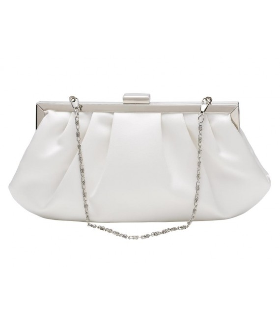 Satin Clutch im Vintage-Look  (Lilly 05-206-CR-0) - The Beautiful Bride Shop