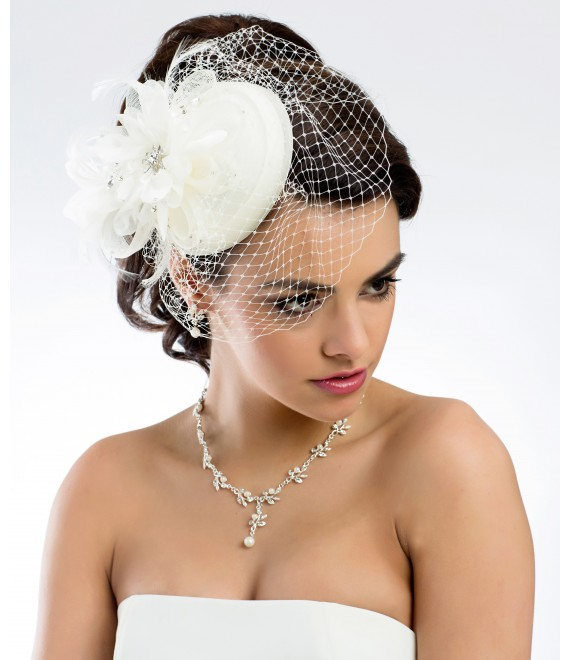 Mini Hut / Pillbox -Fascinator - 107 - The Beautiful Bride Shop