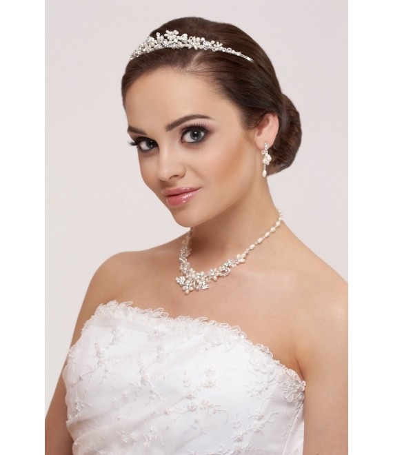 Diadem, Halskette und Ohrringen - The Beautiful Bride Shop