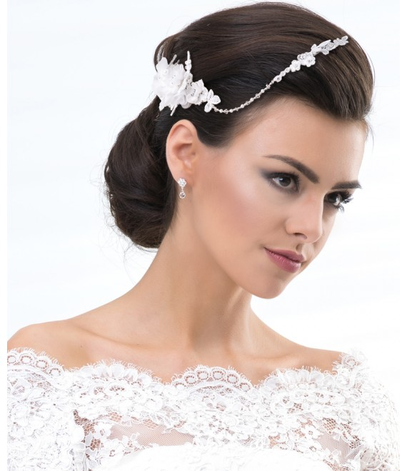 Haarband aus Spitze 7488 - The Beautiful Bride Shop