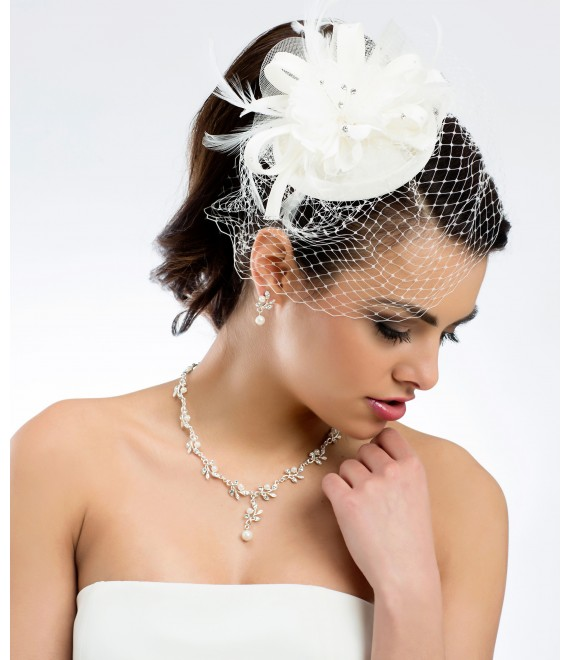 Mini Hut / Pillbox -Fascinator 92 - The Beautiful Bride Shop