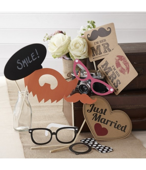 Photo Booth Props Kit - Vintage Affair - The Beautiful Bride Shop