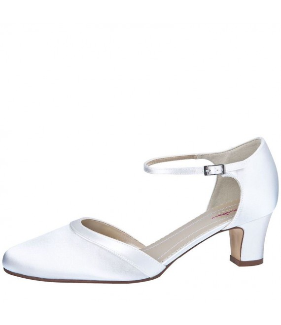 Rainbow Club Brautschuhe Anika Weiß Satin - The Beautiful Bride Shop