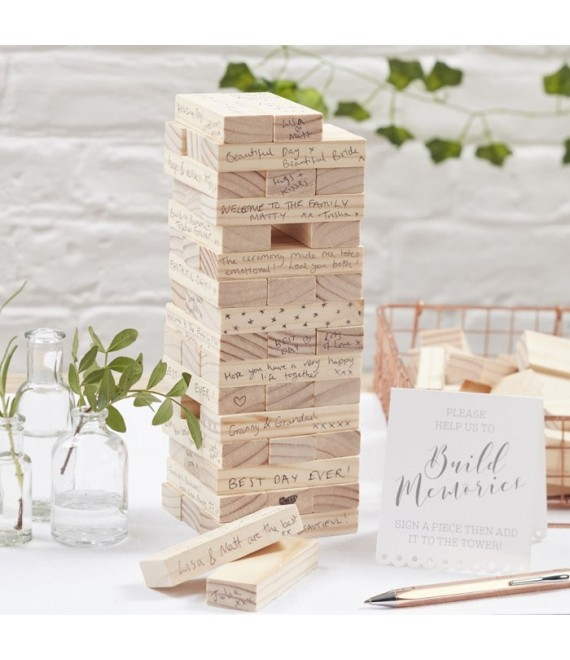 Building Block guestbook 2 - The Beautiful Bride Shop