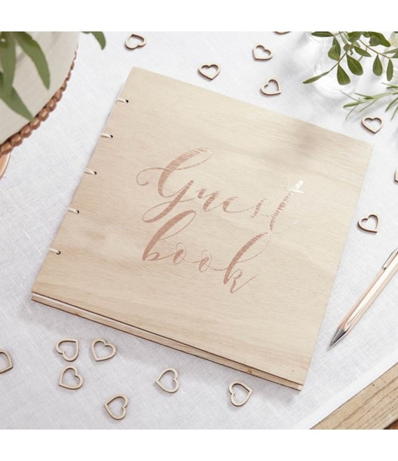 Holz- Gästebuch - Beautiful Botanics   2 - The Beautiful Bride Shop