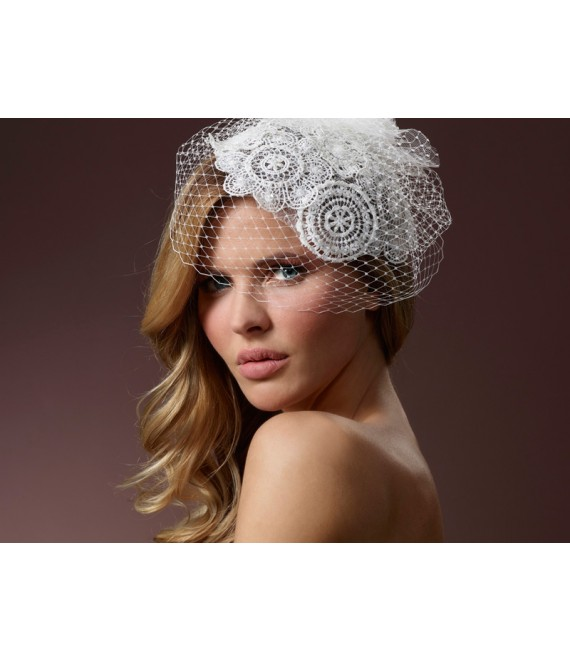 Fascinator mit Spitze BB-386 Poirier - The Beautiful Bride Shop