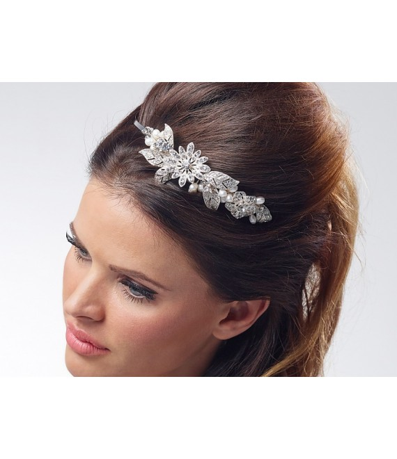 Luxuriöse Tiara BB-7137 Poirier  - The Beautiful Bride Shop