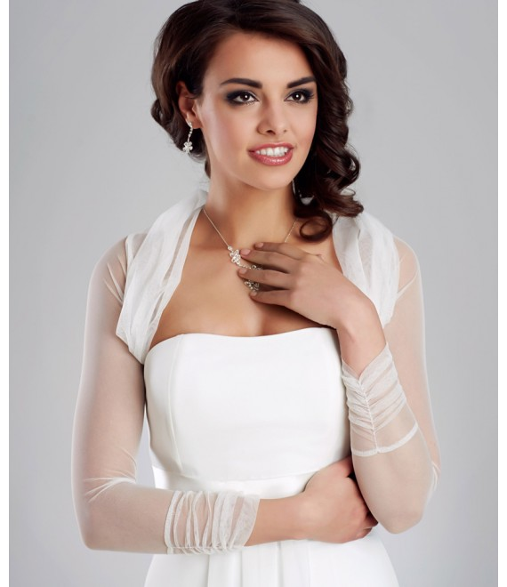 Stretch Tüll-Bolero E122A  - The Beautiful Bride Shop