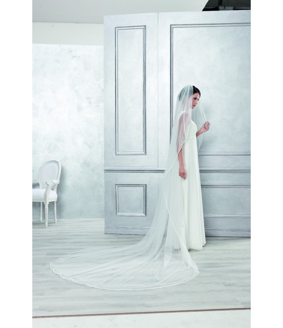 Emmerling Veil 4052-Ivory-two layers - 200 x 400 cm
