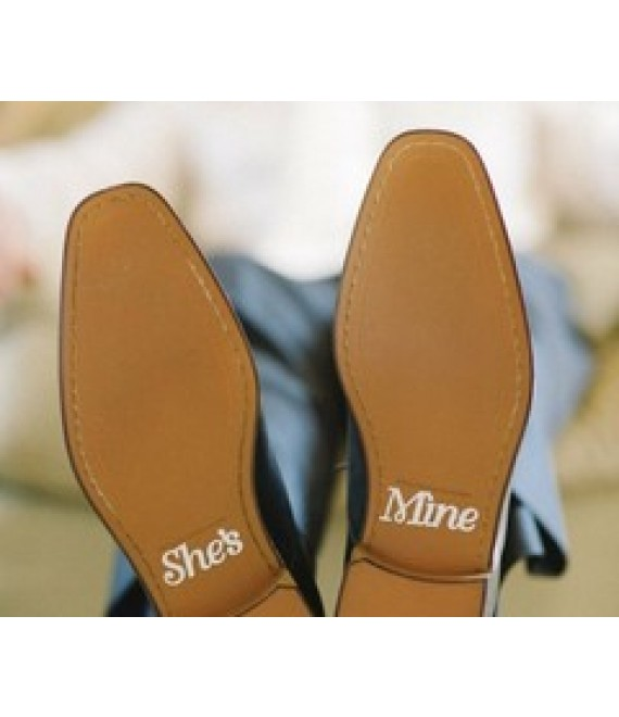 Crystal She's Mine Sticker Brautschuhe - The Beautiful Bride Shop