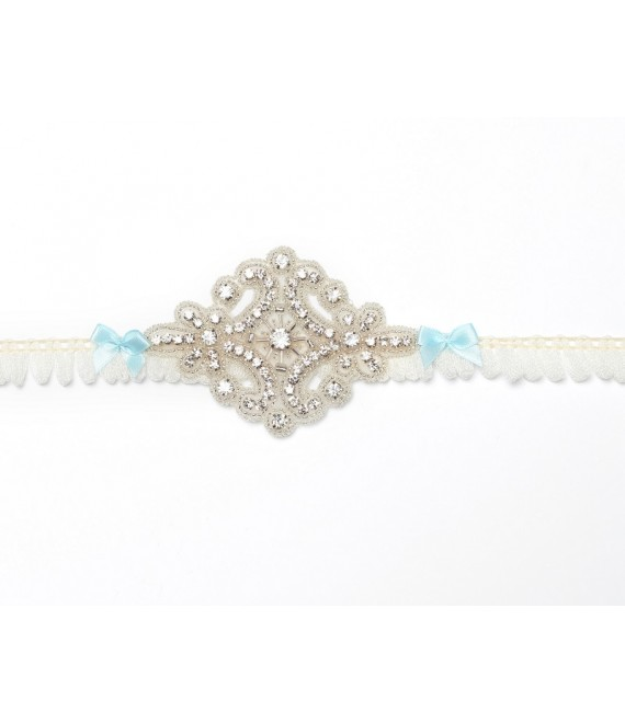 Strumpfband mit Strass-Accessoire KB-26 Poirier - The Beautiful Bride Shop