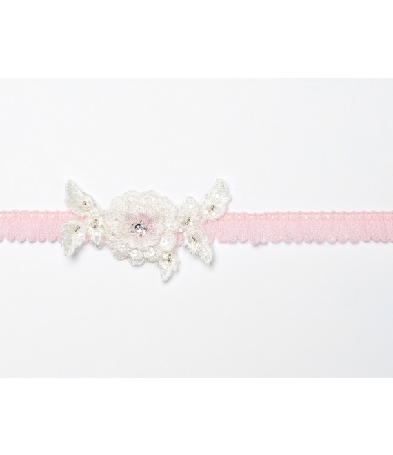 Strumpfband (Rose) mit Blume KB-27 Poirier - The Beautiful Bride Shop