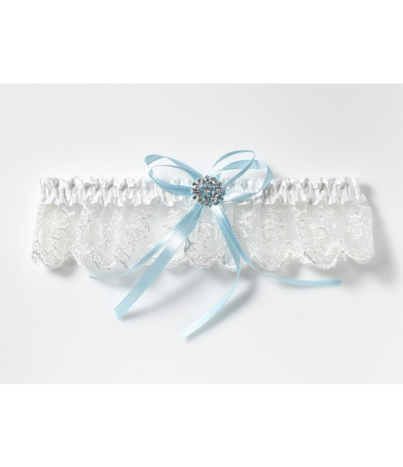 Strumpfband mit Strass-Accessoire KB-90 Poirier - The beautiful Bride Shop