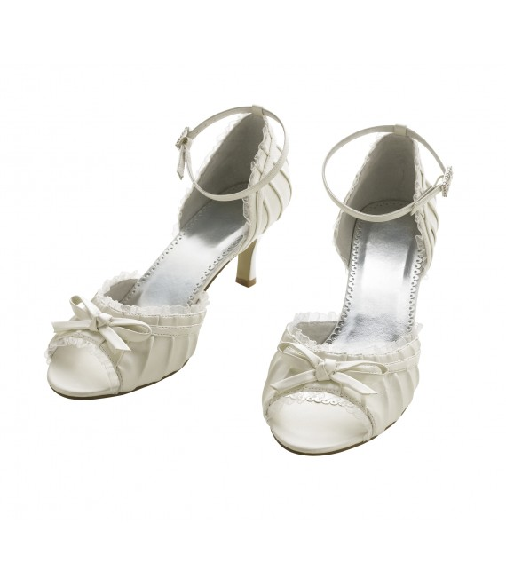 Lilly Brautschuhe (07-1965-CR) - The Beautiful Bride Shop