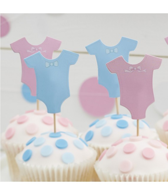Baby Grow Cupcake Toppers (kleiner Stecher) | Little Lady or Mini Mister