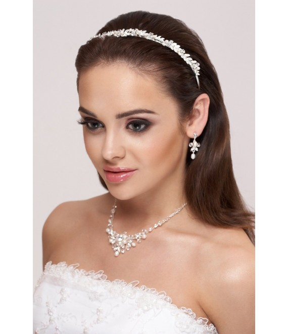 Diadem, Halskette und Ohrringe D36 N25 - The Beautiful Bride Shop