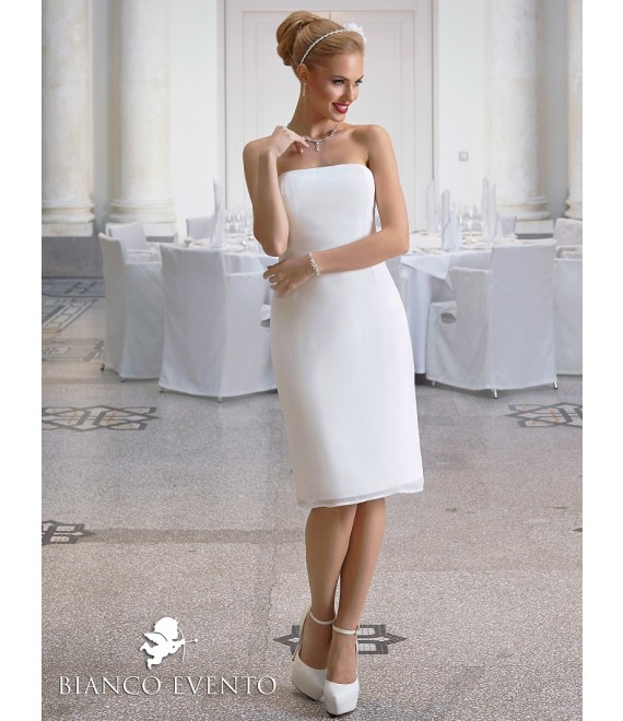Sheath wedding dress Ortensia  Bianco Evento- The Beautiful Bride Shop