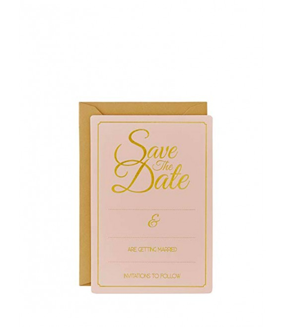Gold Foiled Save The Date Cards 1 - The Beautiful Bride Shop