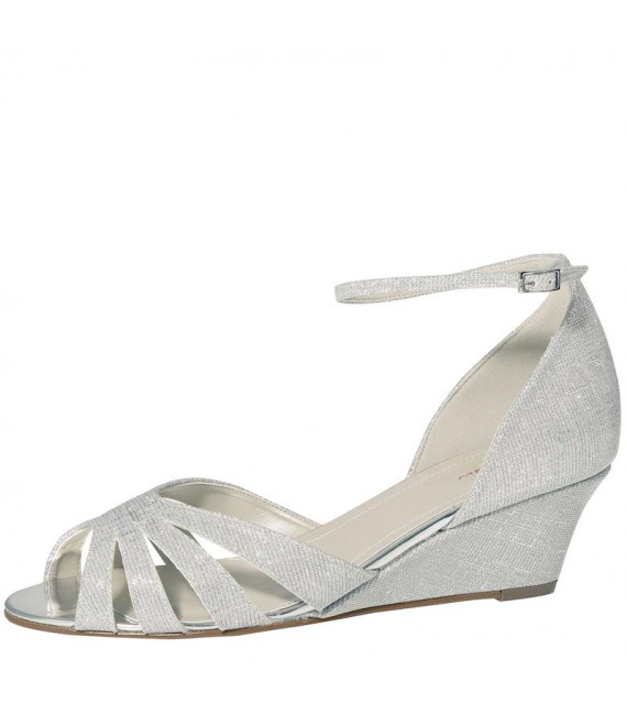 Rainbow Club Brautschuhe Michelle Silver Metallic