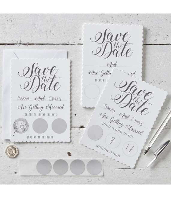 Save the Date Rubbelkarte 1 - The Beautiful Bride Shop