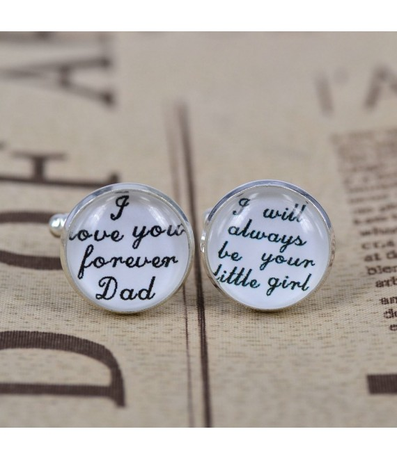 Manschettenknöpfe I love you forever Dad - I always be your little girl - The Beautiful Bride Shop