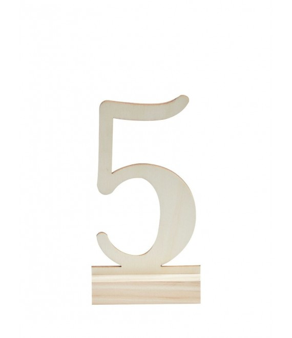 Wooden Table Numbers 1-12 - The Beautiful Bride Shop