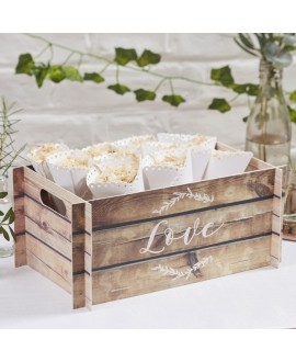 Kiste mit LOVE Holz-Look - Beautiful Botanics