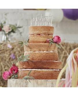 "Cake Topper ""Just Married"" aus Holz"