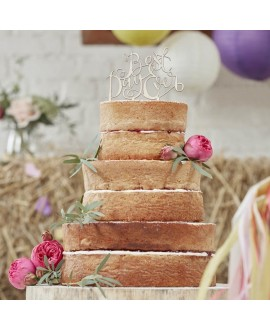 "Cake Topper aus Holz ""Best Day Ever"""
