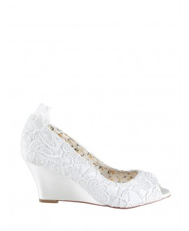 The Perfect Bridal Company Brautschuhe Flora Spitze