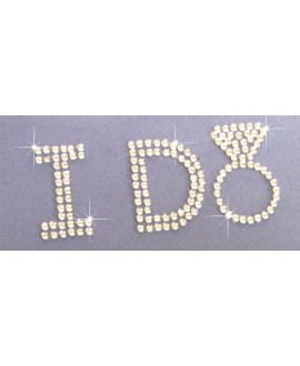 Crystal I DO Sticker Brautschuhe
