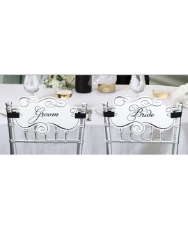 Mrs & Mrs Chair Signs - Beautiful Botanics BB-234 | Ginger Ray