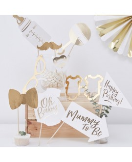 "Photo Booth Props ""Baby Shower"" 