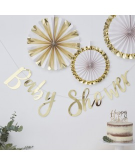 Golden Baby Shower Girlande| Oh baby!