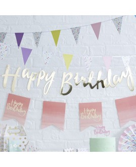 Gold Happy Birthday Girlande| Pick & Mix