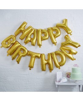 Goldene Happy Birthday Ballons | Pick & Mix
