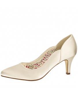 Rainbow Club Brautschuhe Butterscotch Ivory Satin