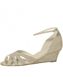 Rainbow Club Brautschuhe Michelle Gold Metallic