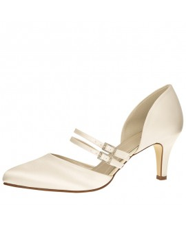 Rainbow Club Brautschuhe Misty Ivory Satin