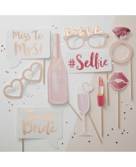 Team Bride Photo booth props - Team Bride